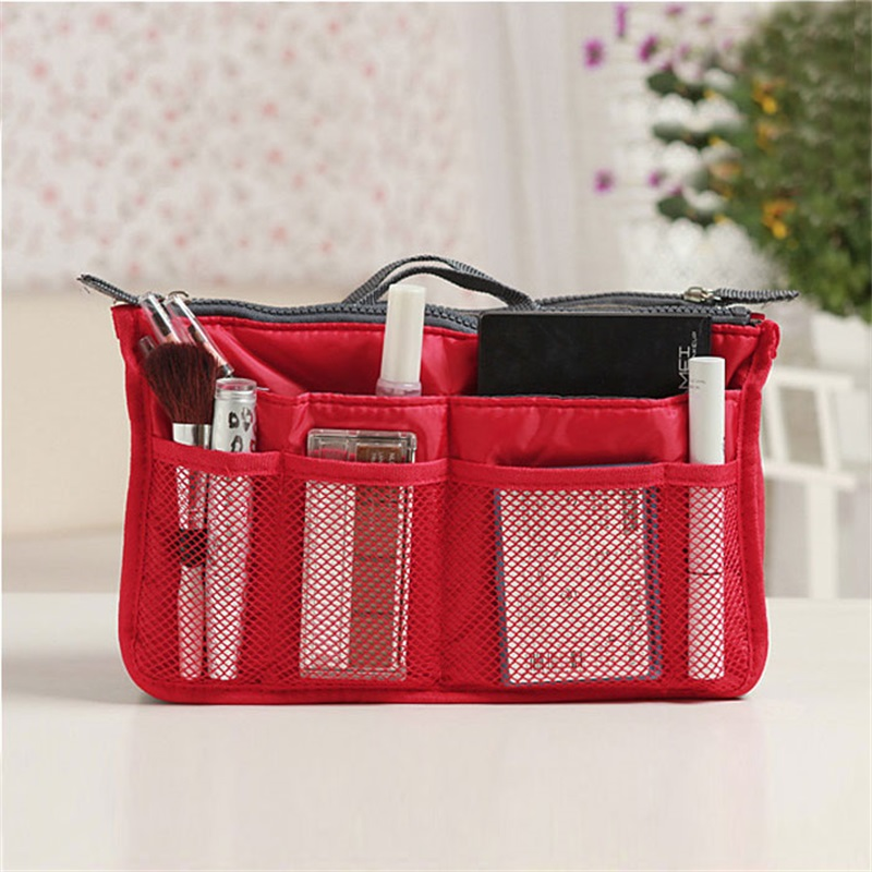 2018 Unique Bag Women Cosmetic Cases Nylon Travel Bags Cosmetic Bags Storage Makeup Wash Kit Handbag Case