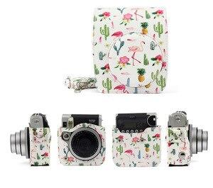 Image 4 - FUJIFILM Instax מיני 90 ניאו קלאסי מצלמה מקרה עור מפוצל כתף רצועת מצלמה תיק קריסטל PVC מגן לשאת כיסוי