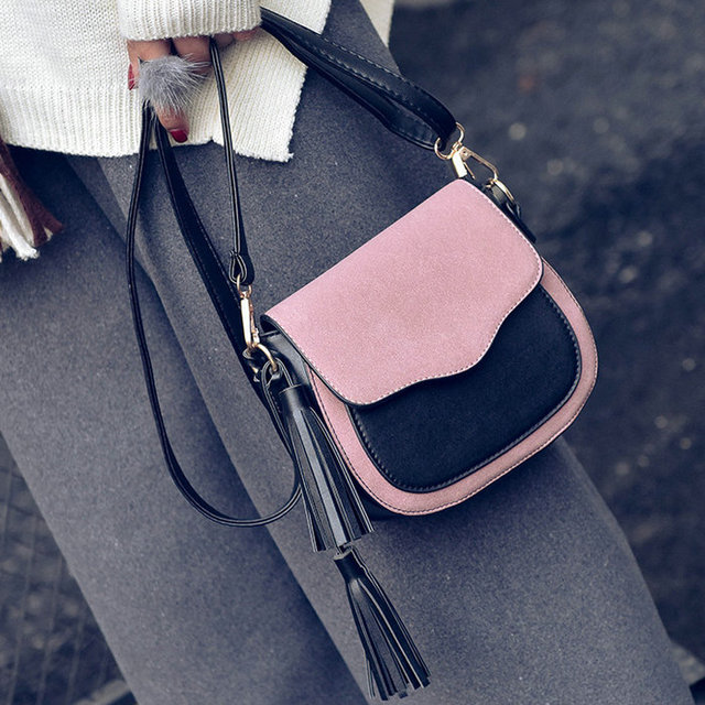 Free shipping, 2019 new trend women handbags, retro simple flap, fashion shoulder bag, tassel ornaments woman messenger bag. 1