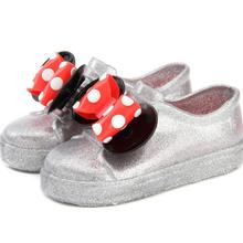2019 Rain Sports Mini Shoes Wave Point 2 Layer Bow Twins Mouse Slip-on Sandals N