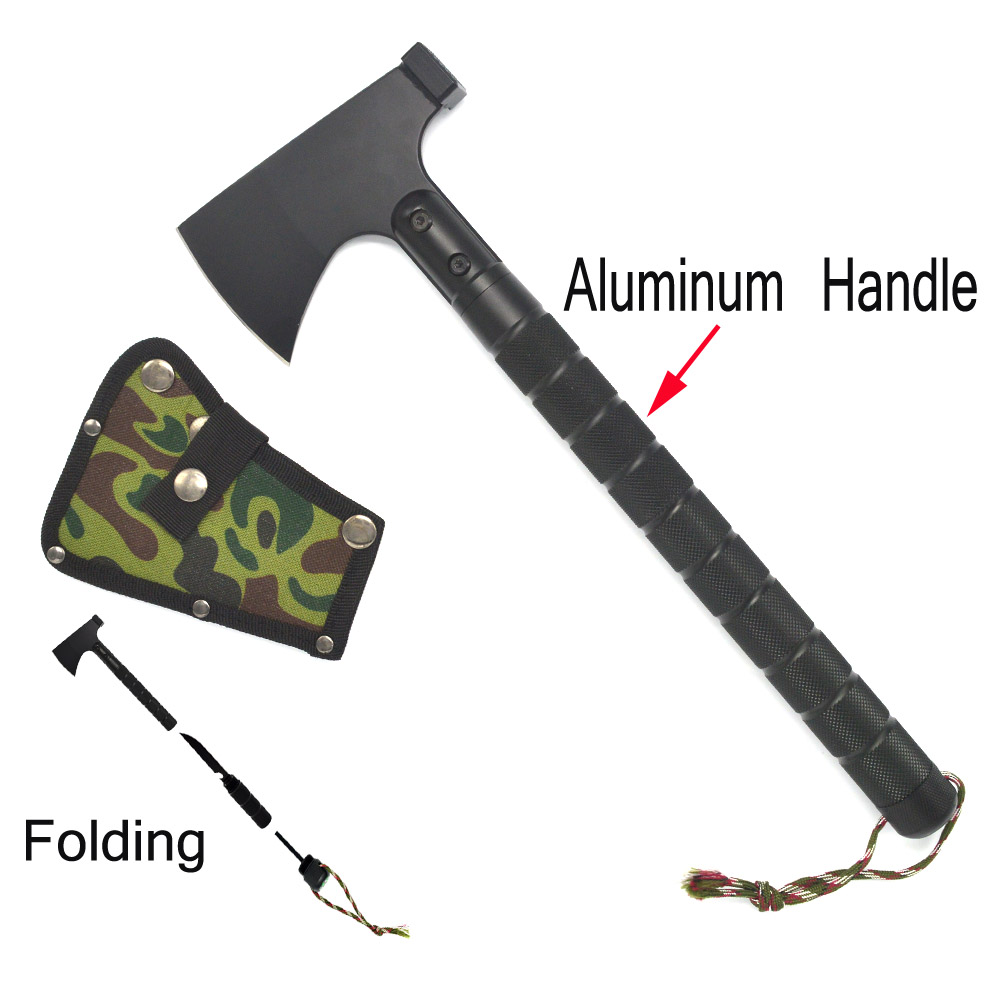 Outdoor multifunction camping tools axe aluminum folding Tomahawk axe fire fighting rescue survival Hatchet wild camping tactical axe forest axe tomahawk for engineer fire camping mountain axe