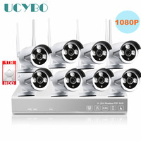 8ch Wireless 1080P IP Camera NVR CCTV Home Security System Outdoor IR 2mp Network WIFI IP