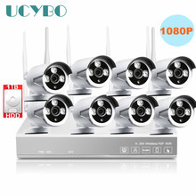 8ch Wireless 1080P IP Camera NVR CCTV home Security system Outdoor IR 2mp Network WIFI IP Camera Video Surveillance Kit 1TB HDD