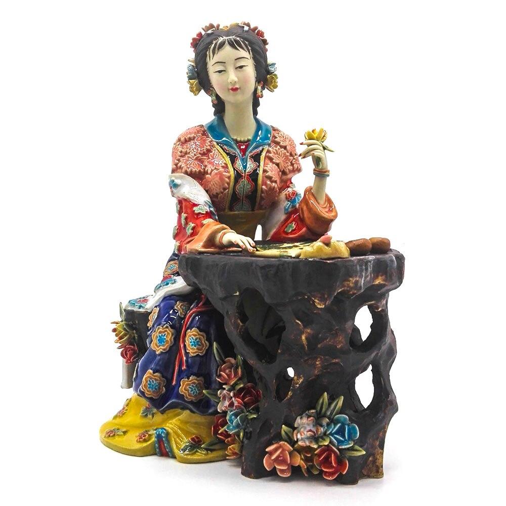 Porcelain Angel Figurines Figurative Ceramic Sculpture Glazed Marvel Statue Figure Art for Home Decor