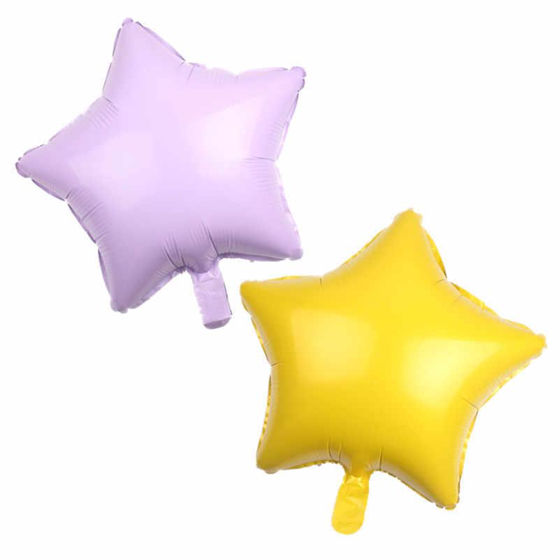 GOGO PAITY envío gratis multi-color 18 pulgadas cinco puntas estrella de aluminio globo decoraciones para fiestas globos de disposición