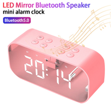 Multifunction Wireless Bluetooth Speakers with Home Clock Mini LED Digital Display Alarm Clock Table for Office Room цена и фото
