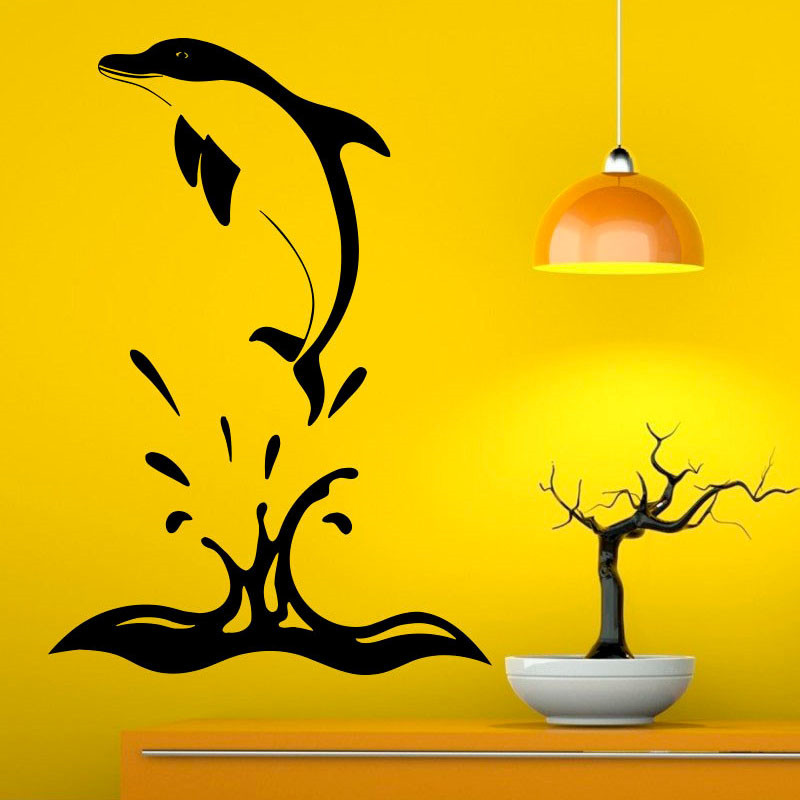 Dolphin Jumping Out Of The Water Wall Decal Sticker Modern Wall ...