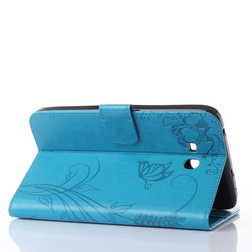 Hot New Fashion high quality Carved PU leather case For Samsung Galaxy Tab 3 Lite T113
