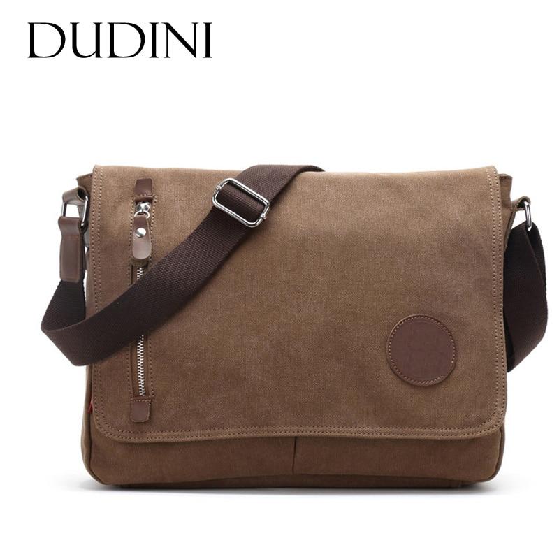 [DUDINI] New Male Package Canvas Casual Men's Shoulder Bag Student Bags Solid Messenger Bags Multifunctional Men Crossbody casual canvas satchel men sling bag