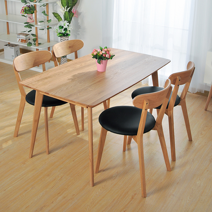 O Anese White Oak Wood Dinette Combination Of Solid Ikea Dining Table Minimalist Modern Scandinavian Furniture Long In Tables From