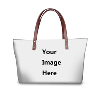 Customized Image 3D Printing Women Large Bags for Female Shopping Brand Designer Beach Bags Top Handle Bag Ladies
