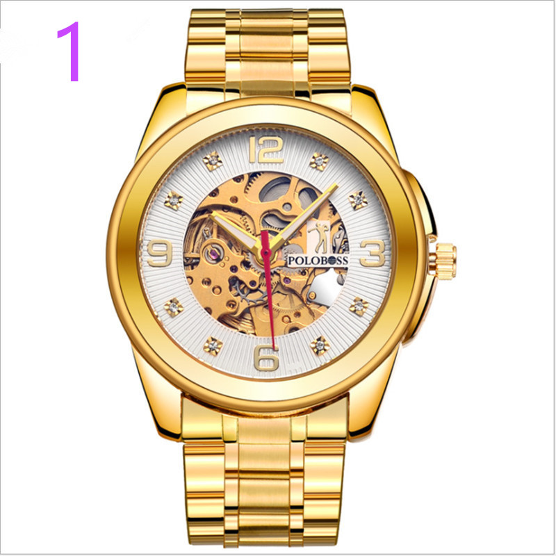 Brand Luxury Sport Quartz Watch Men Business Stainless Steel Silicone Waterproof Wristwatch 07