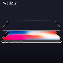 Фотография white 5D For iphone x Tempered Glass Film black For iphone x 5D 9H Tempered Film For iphone x Screen Protector 5D Wellzly