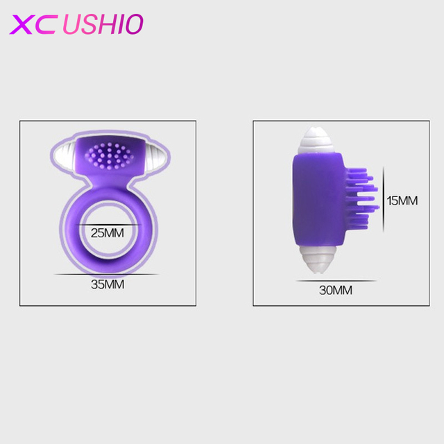 Silicone Vibrating Cock Ring Sex Toy Penis Ring
