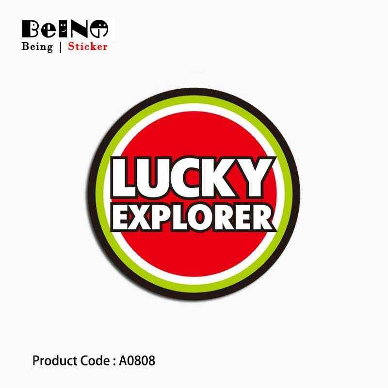 Lucky Explorer Logo Sign Sticker Red Circle Waterproof Suitcase Laptop Guitar Luggage Skateboard Toy Lovely A0808 Stickers QY31