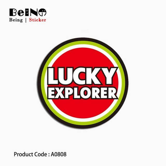 May mắn Explorer Dấu Hiệu Biểu Tượng Sticker Vòng Tròn Màu Đỏ Va Li Không Thấm Nước Máy Tính Xách Tay Đàn Guitar Hành Lý Skateboard Đồ Chơi Đáng Yêu A0808 Dán QY31