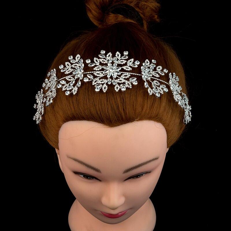 Nankiya brillant mariage cheveux accessoire doux bandeau fleur zircone cristal argent couleur pour les femmes danse cheveux couronne NT4687