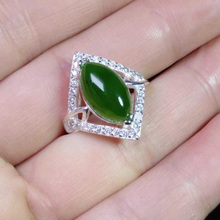 yu xin yuan boutique jewels natural hetian jasper 925 silver inlay jade adjustable lady ring  jewelry kjjeaxcmy boutique jewels 925 pure silver inlaid natural hibiscus stone earrings ring set