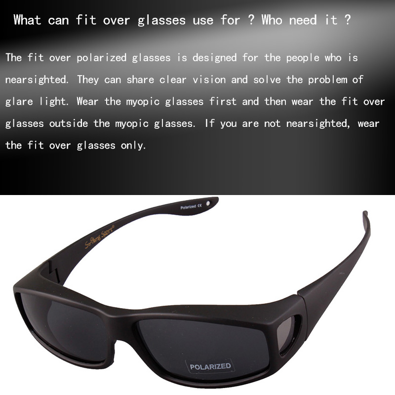 3fdfa0c631 TOPSPORTS men women Fit over Glasses myopia polarized Sunglasses ...