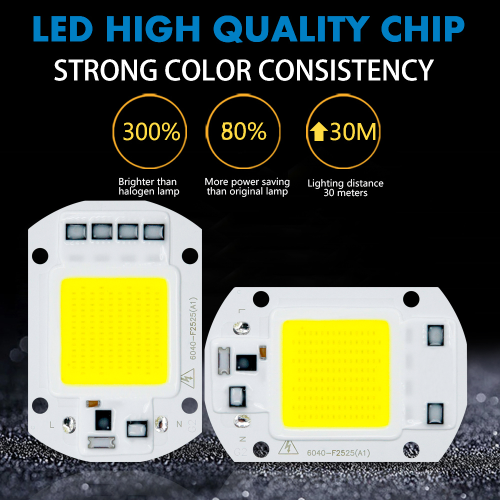 Image 2 - LED COB Chip Diode AC 220V 3 9W 10W 20W 30W 50W For Rectangular Light Matrix Lamp Ampoule Spotlight Y27 Y32 Not Need Driver Led-in LED Chips from Lights & Lighting