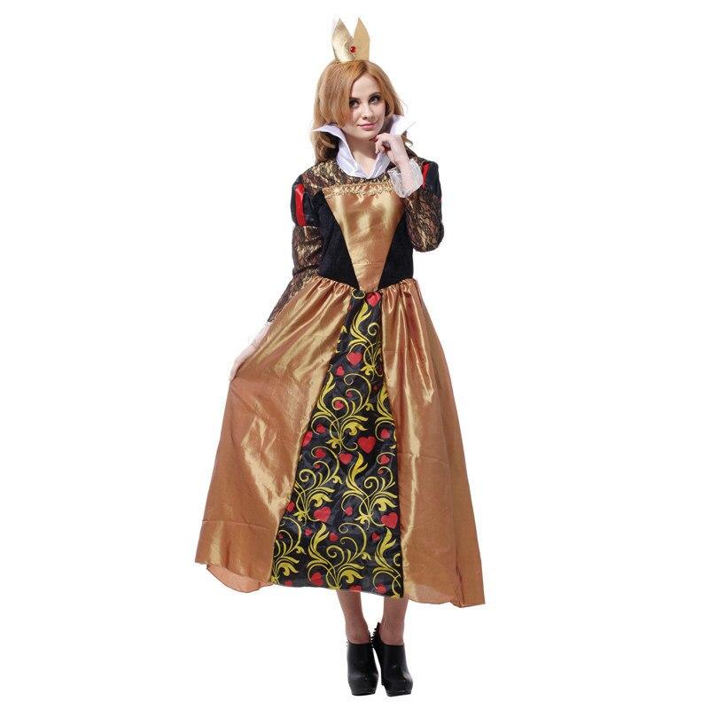 Costumi Di Natale Di Halloween Di Carnevale Per Alice Nel Paese Delle Meraviglie Regina Costume Donne Adulto Del Partito Di Travestimento Fancy Dress Cosplay Dolcezza Gradevole