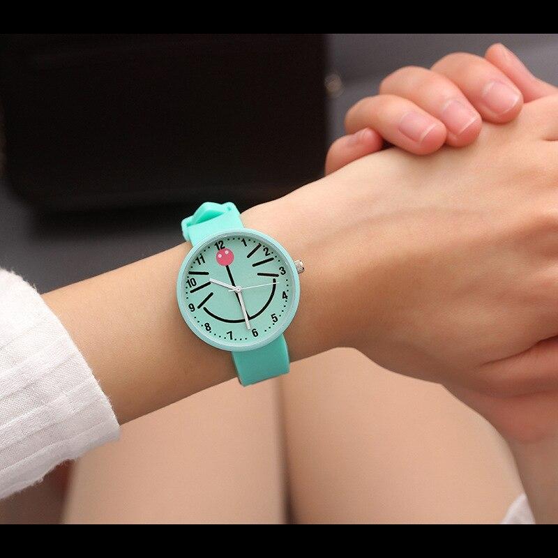 Watch Children Watches Fashion Cartoon Cute Color Quartz Watches Boys Girl Kids Child Wrist Watch Child Clock Gifts Big Cat Face