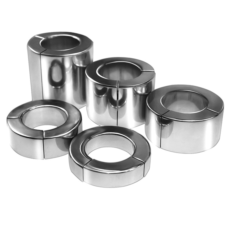 Buy 304 Stainless Steel Scrotum Pendant Magnetic Ball Stretchers Cock Ring Metal Penis Training Ring Sex Toys Men