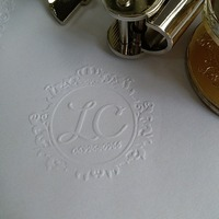 Design Your Own Wedding Embosser Stamp Custom Embosser Seal For Personalized Wedding Seal