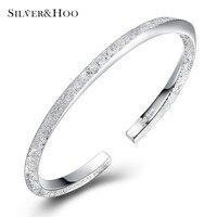SILVERHOO 999 Sterling Silver Luxury Bracelet Real Solid Bangle Fine Jewelry Hot Sell Generous Trendy Party 2018 New Arrival