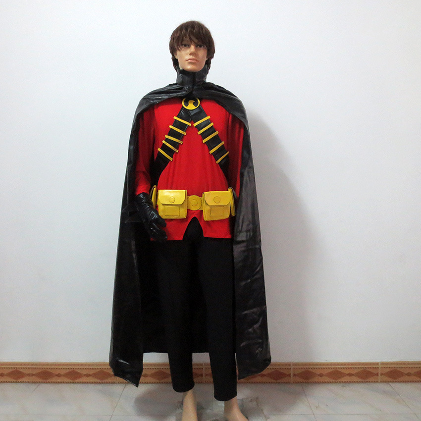 Batman DC Comics Young Justice Cosplay Red Robin Tim Drake Damian Christmas Party Halloween Uniform Outfit Cosplay Costume
