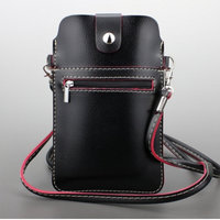 Universal Cell Phone Bag With Shoulder Strap Leather Wallet Pouch Case For IPhone Samsung Sony LG