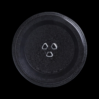 24 5cm Diameter Groove Microwave Oven Rotating Glass Plate Rotating Pallet Dish