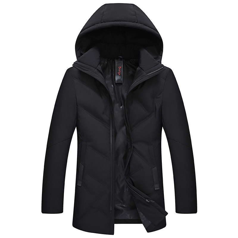 2019 Top Quality Warm Men's Warm Winter Jacket Windproof Casual Outerwear Thick Medium Long Coat Men Parka