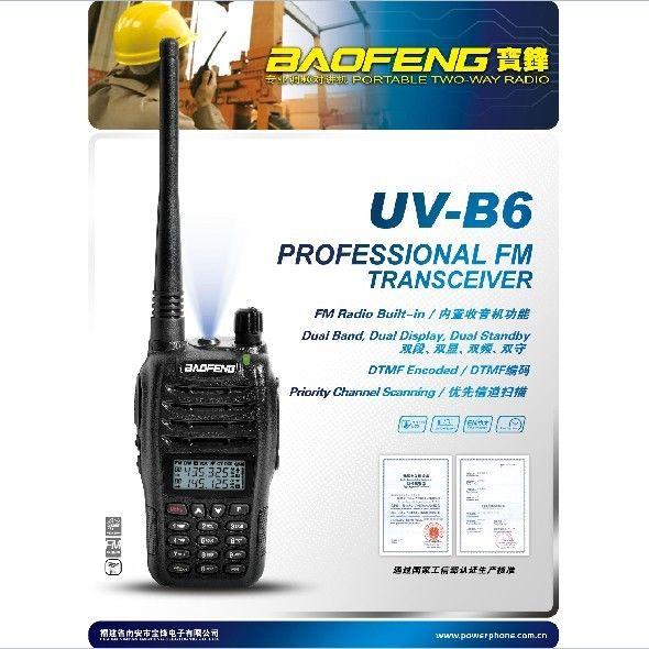 imágenes para Baofeng UV-B6 Doble Banda VHF UHF 5 W 99 Canales de FM Portátil de Dos vías de Radio + auricular + Moscwo stock