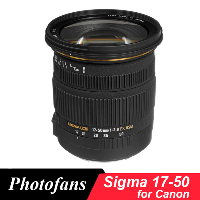 Sigma 17-50 Sigma 17-50mm f/2.8 EX DC OS HSM Zoom Lens for Canon 1300D 700D 750D 760D 70D 60D 80D 7D T6 T6s T5 T5i new sigma 50 100mm f 1 8 dc hsm art series lens for canon
