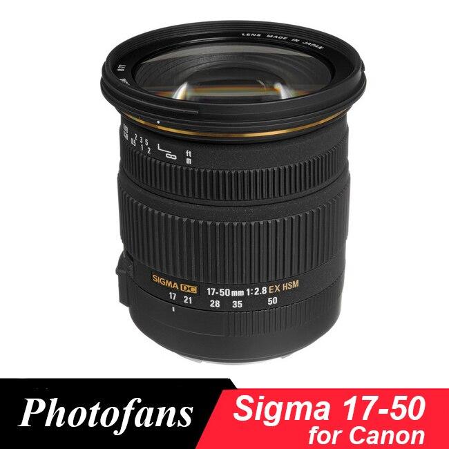 Sigma 17 50 Sigma 17 50mm f/2.8 EX DC OS HSM Zoom Lens for Canon 1300D 700D 750D 760D 70D 60D 80D 7D T6 T6s T5 T5i