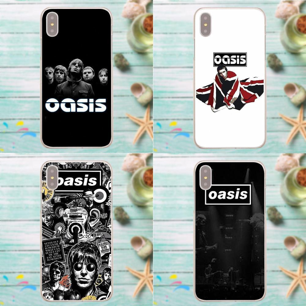 Oasis Bands Style Design Cell Phone Case For Apple IPhone X 4 4S 5 5C SE 6 6S 7 8 Plus For LG G3 G4 G5 G6 K4 K7 K8 K10 V10 V20