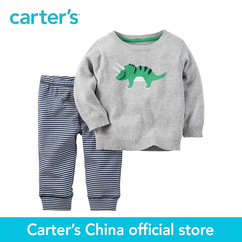 Carter's 2pcs baby children kids 2-Piece Little Sweater Set 121H220,sold by Carter's China official store carter s 1 pcs baby children kids long sleeve embroidered lace tee 253g688 sold by carter s china official store