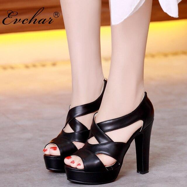 e6eae6124 Mulheres Moda pio Plataforma Toe Bombas de Couro PU 4 cores Vestido sexy  super sapatos de
