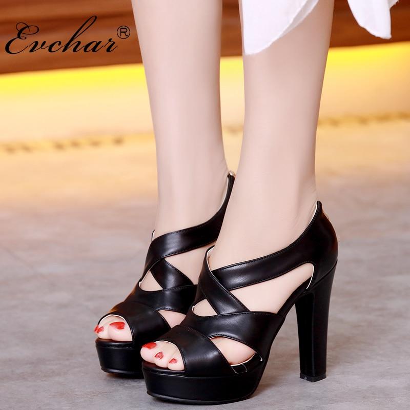 Women Fashion peep Toe Platform PU Leather Pumps 4 colors sexy Dress shoes super High Heels fish mouth Shoes size 31-43 цена