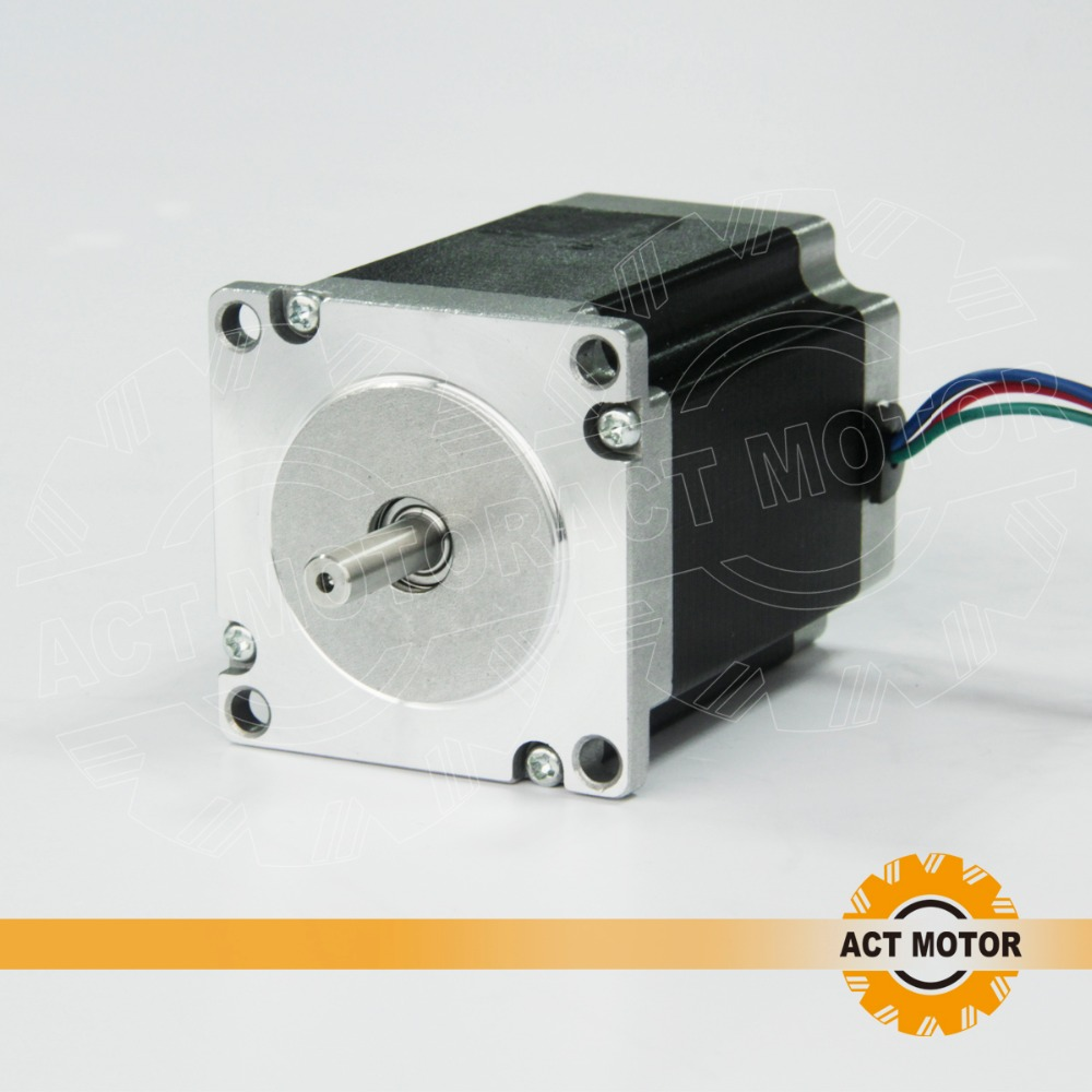 from Germany to EU 1pc Nema 23 Stepper Motor 270oz-in,3A, 76mm shaft 6.35 or 8mm CE DHL germany free ship 3axis 4 lead nema 23 stepper motor 270oz in 3a 76mm ce