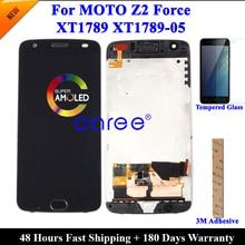Протестированный ЖК экран для Moto Z2 Force, ЖК дисплей для Moto Z2 Force XT1789, ЖК экран с сенсорным дигитайзером в сборе
