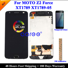 Tested  LCD Screen For Moto Z2 Force LCD Display For Moto Z2 Force XT1789 Display LCD Screen Touch Digitizer Assembly