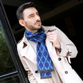 Blue Scarf Mens Cotton Knitted Men Geometric Scarf Women Cashmere Scarf Long Tassel Poncho Shawl Neck Warmer Wraps
