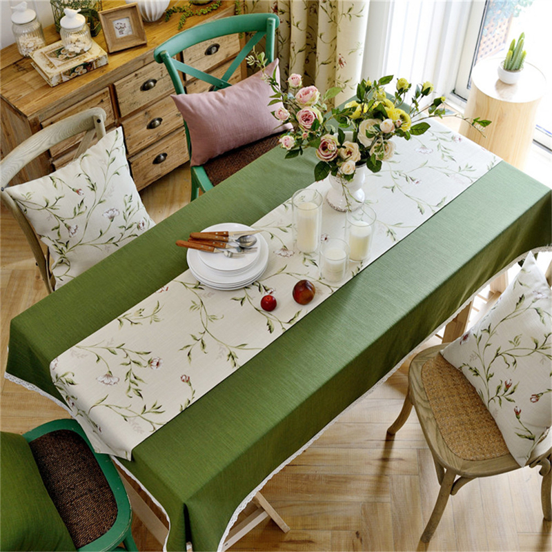 Aliexpress.com : Buy 1pc European Solid Color Tablecloths Cotton Linen Table  Cloth Wedding Decoration Cloth Cover With Pastoral Floral Table Runner From  ...