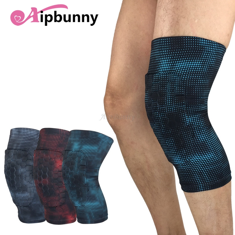 Aipbunny 2pcs Honeycomb Kneepad Elastic Knee Pad Elbow Brace Support Lap Knee Protector for Football Volleyball Cycling Sports