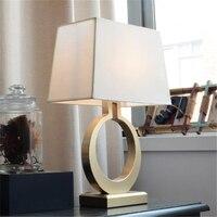 Черный/золотой American Retro простой роскоши Гостиная настольная лампа прикроватная Спальня Творческий Настольная лампа Бесплатная доставка