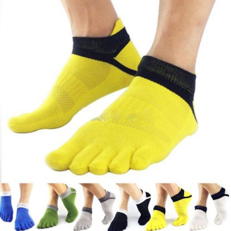 Men Socks Boys Cotton Finger Breathable Five Toe Socks Pure Color Sock