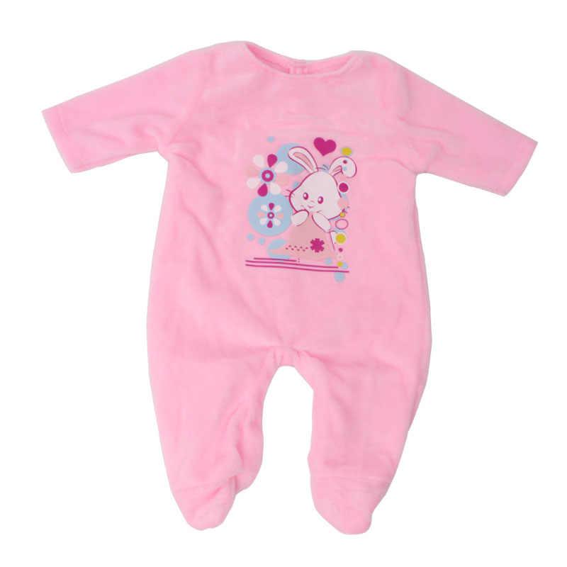 בובת בגדי פיג 'מה פלנל בד 43 cm תינוק בובות ורוד סרבל fit 18 אינץ ילדה בובת בגדי אביזרי f625