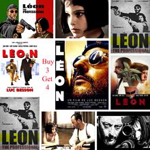 LEON The Prefessional Posters Classic Movie Wall Stickers White Coated Paper Prints Home Decoration Art Brand